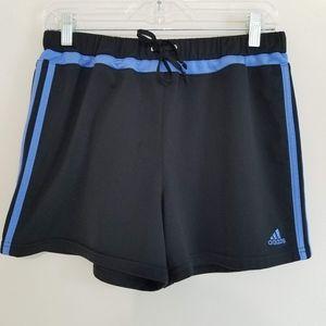 Adidas Black & Periwinkle Blue Striped Shorts